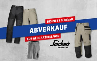 Abverkauf – Snickers Arbeitsschutzkleidung